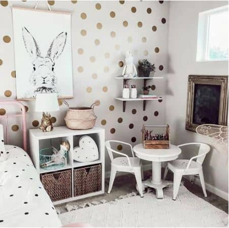 Gold Spots Wall Stickers Set Large