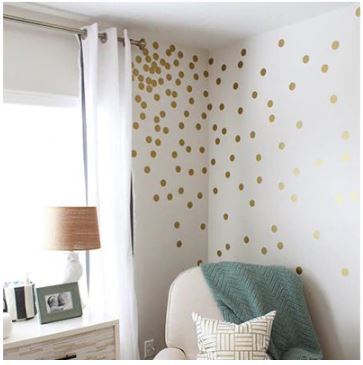 Gold Spots Wall Stickers Set Small