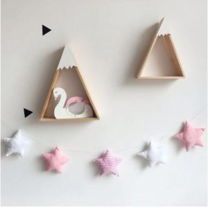 Star garland Pink & White Stripes