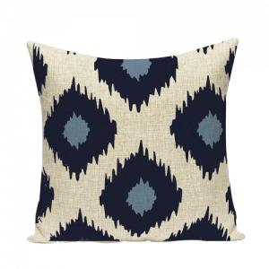 Blue Boho Patterened Cushion Cover