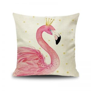 Queen Flamingo Cushion Cover 45x45cm
