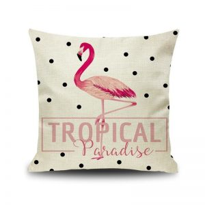 Tropical Paradise Flamingo Cushion Cover 45x45cm