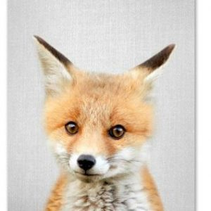 Cute Fox Print 21x30cm A4