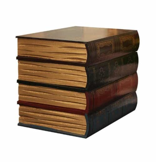 Antique Book Collection with secret compartment side