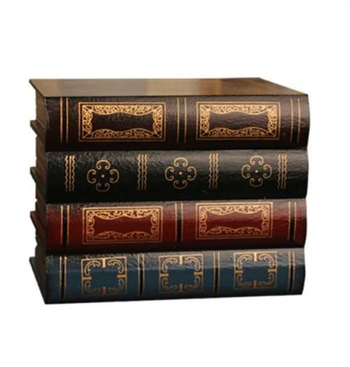 Antique Book Collection with secret compartment front