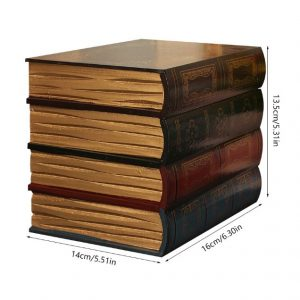 Antique Book Collection with secret compartment dimensions