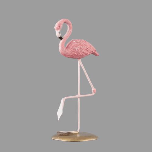 Flamingo Resin Ornament One Leg