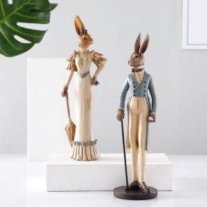 Sophisticated Rabbit Ornaments