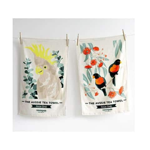 Aussie Collection Tea Towel Pack Native Birds