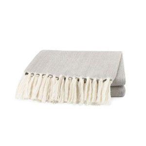 Lino Luxury Cotton Throw Smokey Grey