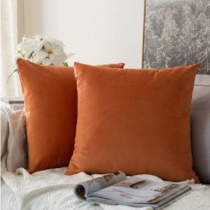 Velvet Cushion Cover Orange