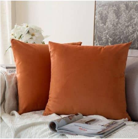 Velvet Cushion Cover Orange