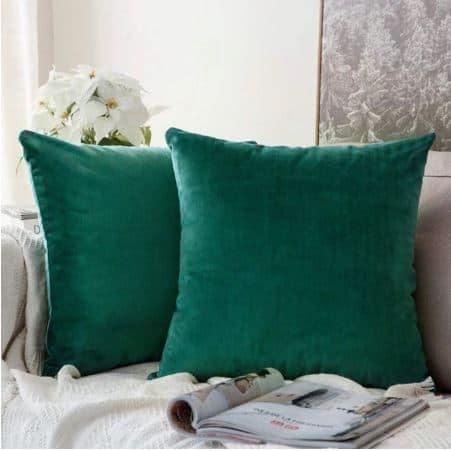 Velvet Cushion Cover Green