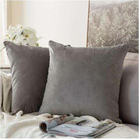 Velvet Cushion Cover Grey