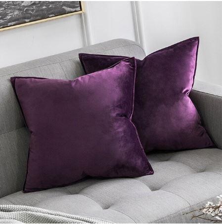 Velvet Cushion Cover Purple