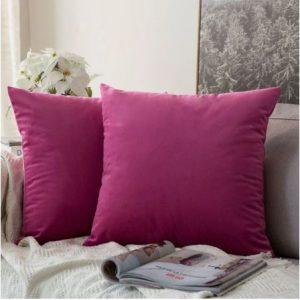 Velvet Cushion Cover Pink