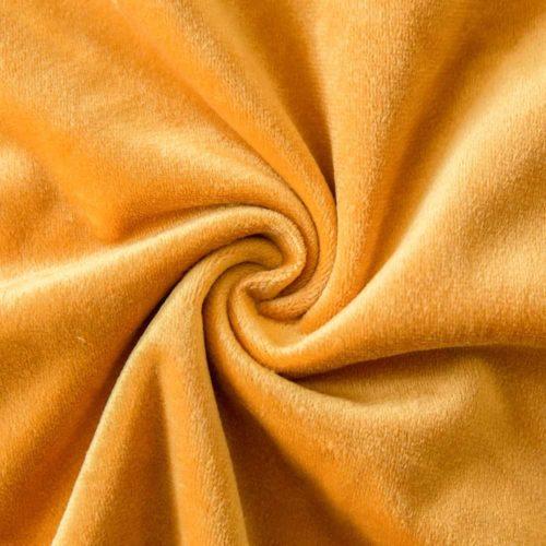 Velvet Cushion Cover Yellow Detail