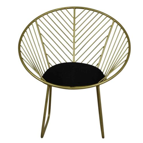 Geometric Brass Finish Metal Chair IMG3