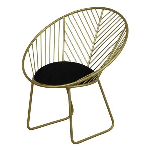 Geometric Brass Finish Metal Chair IMG2
