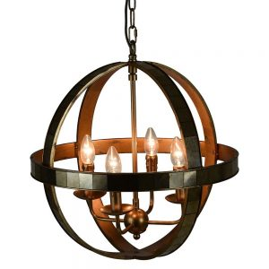 Antique Globe Pendant Light
