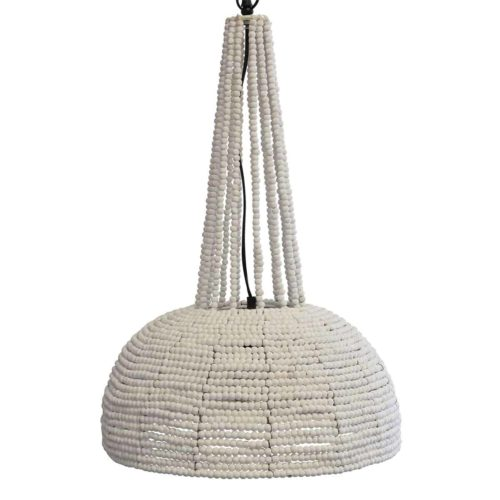 Botswana Beaded Pendant Light White Large