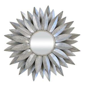 Dahlia Mirror Silver