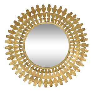 Louis Round Brass Mirror