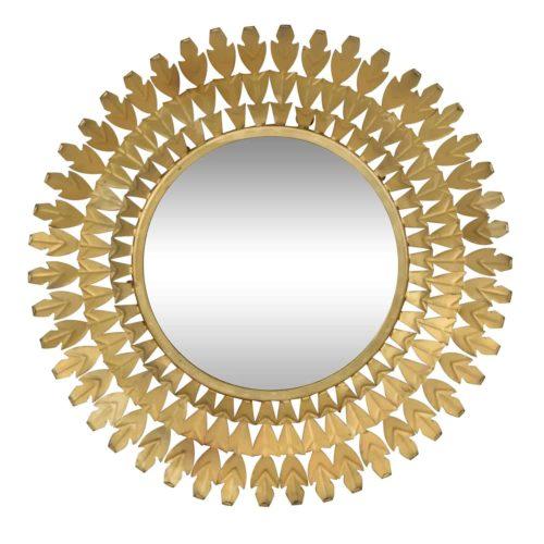 Louis Round Brass Mirror