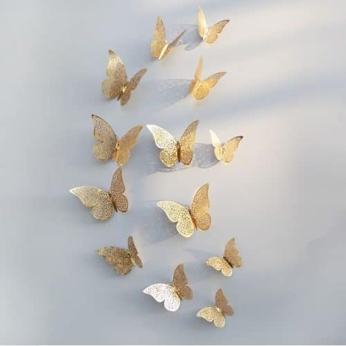 Butterfly Wall Stickers Gold Design 1