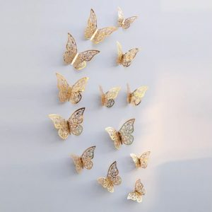 Butterfly Wall Stickers Gold Design 2
