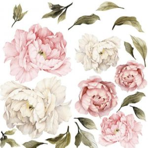 Peony flowers mural wall stickers image 2