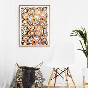 Moroccan Burnt Orange Print 3