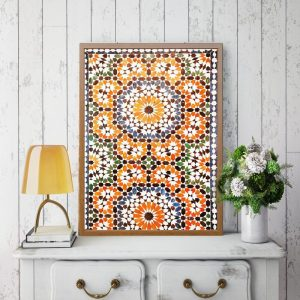 Moroccan Burnt Orange Print 1