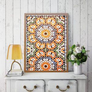 Moroccan Burnt Orange Print 1