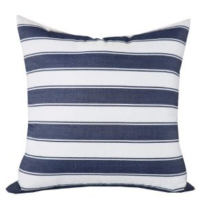 Jolene Navy Striped Cushion Cover image 1