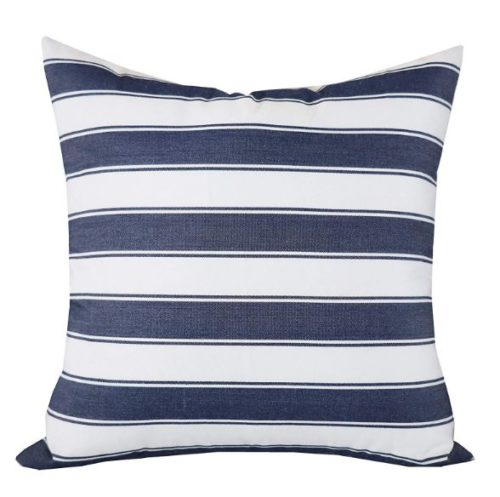 Jolene Navy Striped Cushion Cover image 1