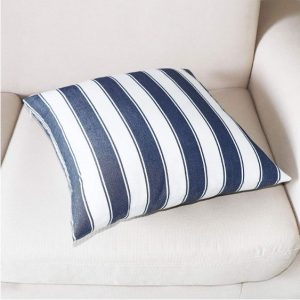 Jolene Navy Striped Cushion Cover image 2