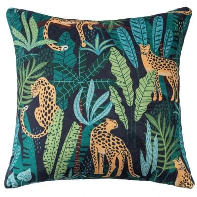 Modern Jungle Cushion Cover Leopard Green