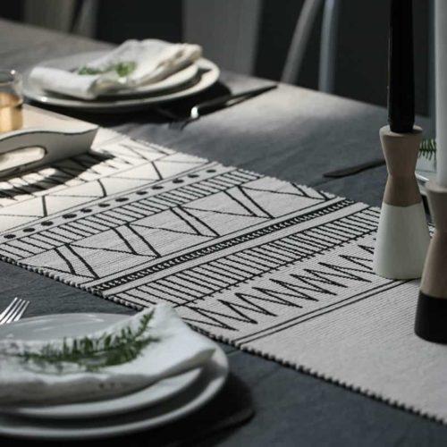 Boho Geometric Table Runner