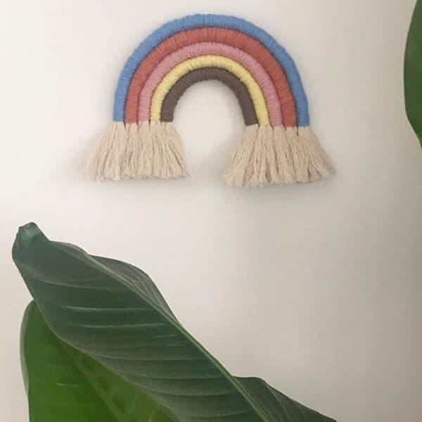 Handmade woven cotton Rainbow