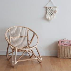 Children's Circular Rattan Chair