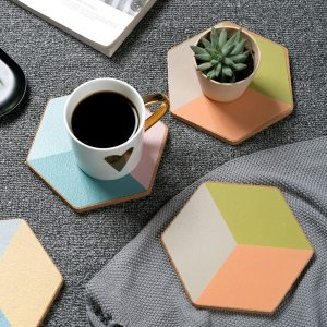 Geometric-Cork-Coaster