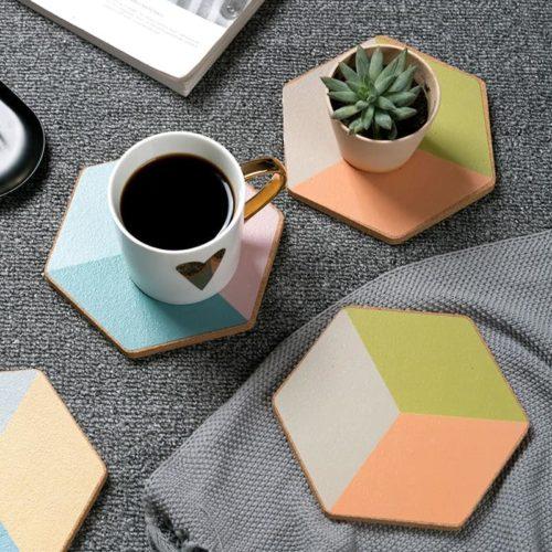 Geometric-Cork-Coaster