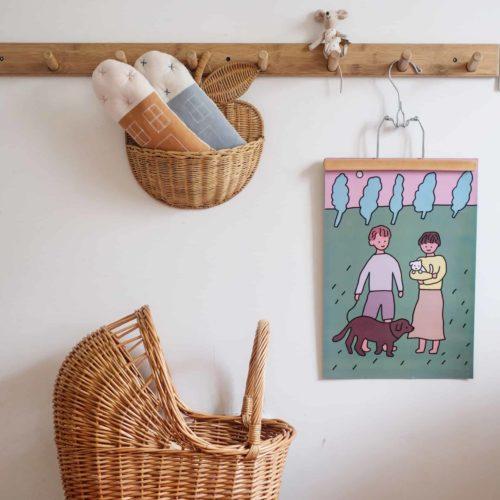 Handmade-Rattan-Storage-Basket Hanging