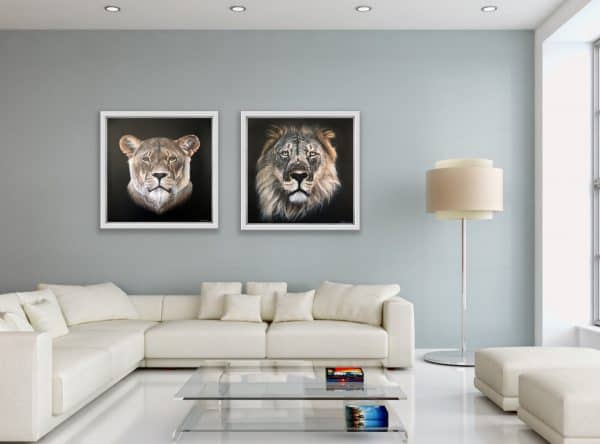 Mary Zammit Lion and Lioness Prints 2