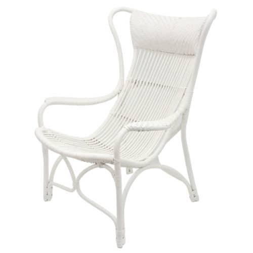Joshua Rattan Sun Chair - White