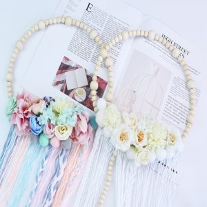 Wooden-beaded-flower-garland