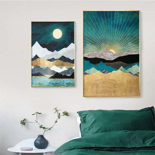 Moody Ocean Series living room