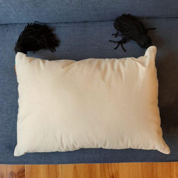 Plumbago aztec range pillows. Pillow reverse plain cotton.