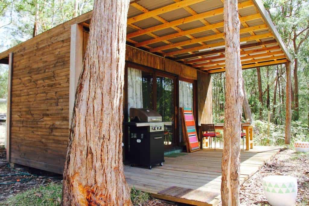 Bungwahl Tiny Container Home Front Deck